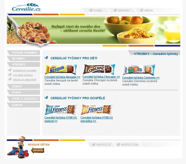 Nestle Cereálie 2005