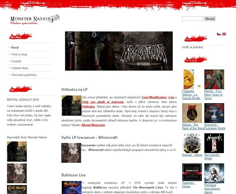 Monsternation.cz - Metalový eshop