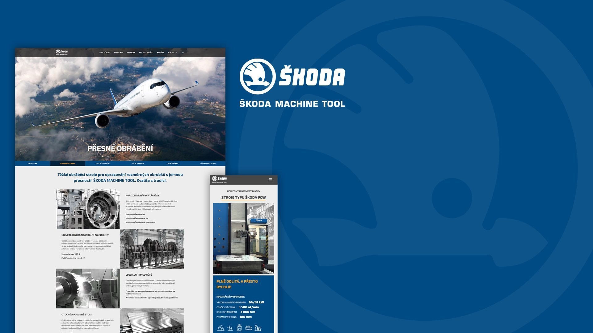 Škoda Machine Tool - webdesign, marketing, poradenství, SEO